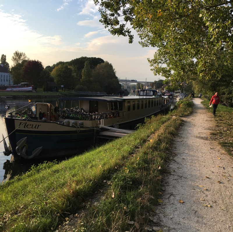Barge used for a bike trip in Europe