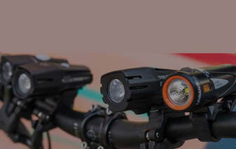 Bike handlebar with 4 bike headlights