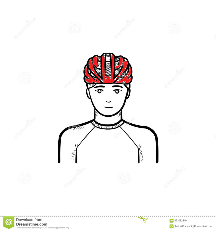 Helmet on a person