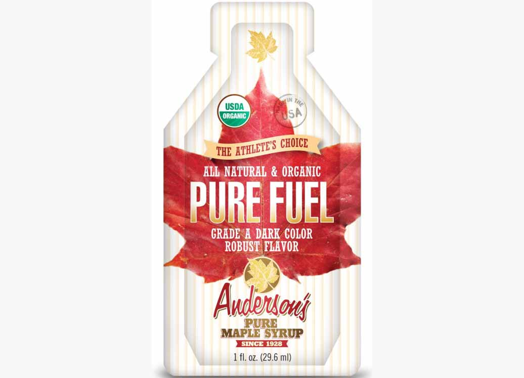 Packet of Organic Pure Fuel Maple Syrup energy gel